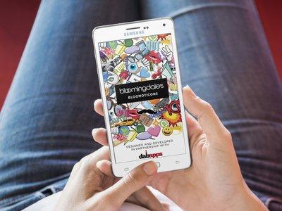 Bloomingdale's Bloomoticons app
