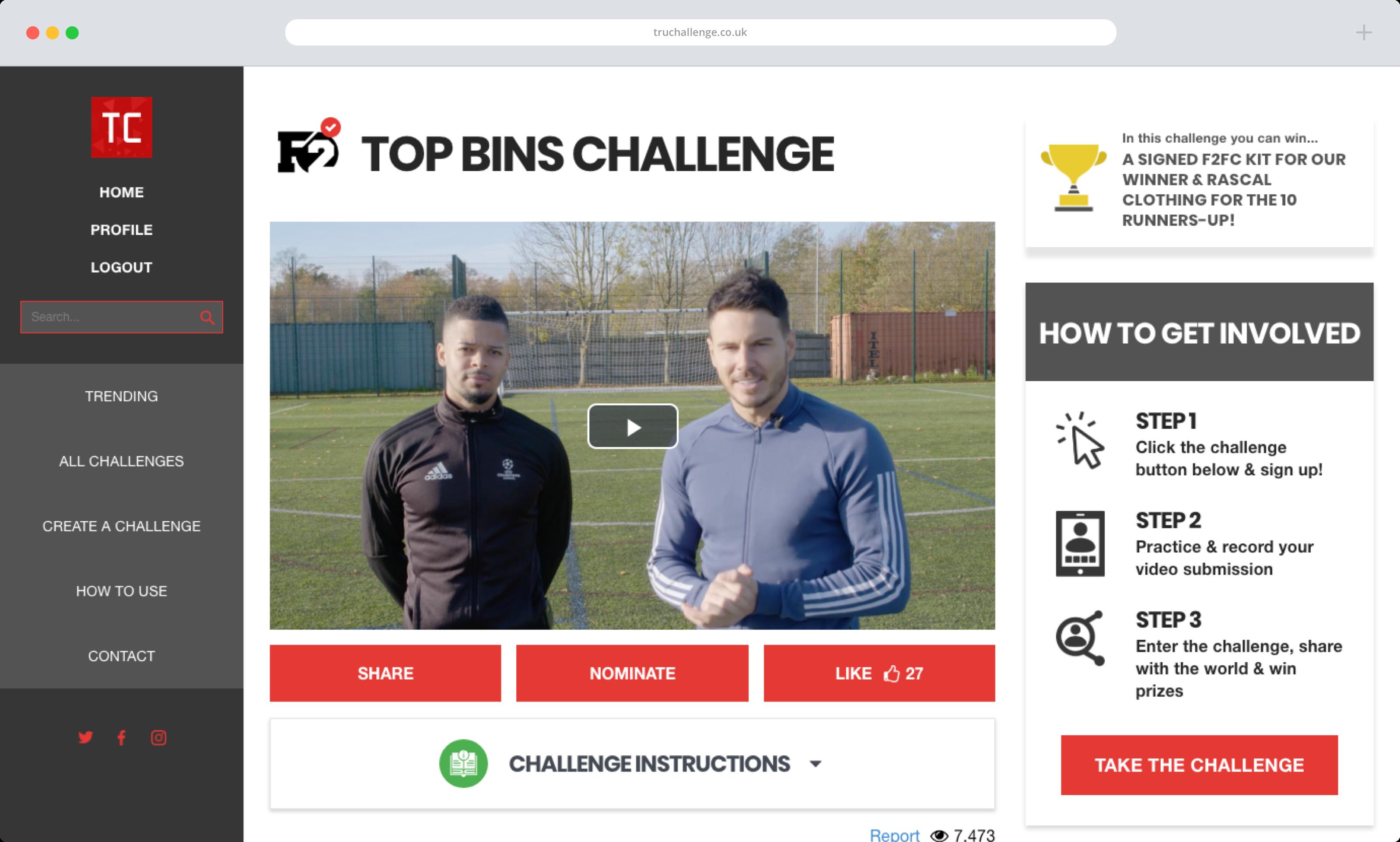 TruChallenge Browser Challenge