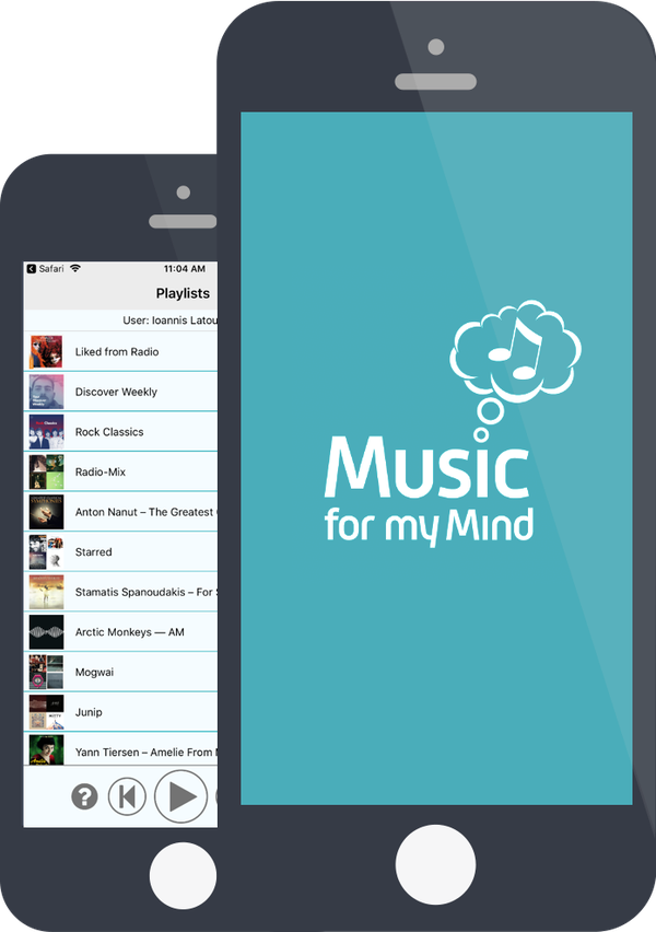 Music for my Mind app prototype