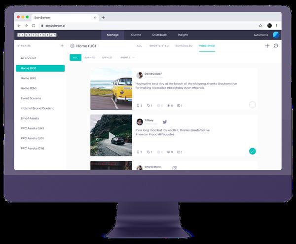 StoryStream iMac Mockup