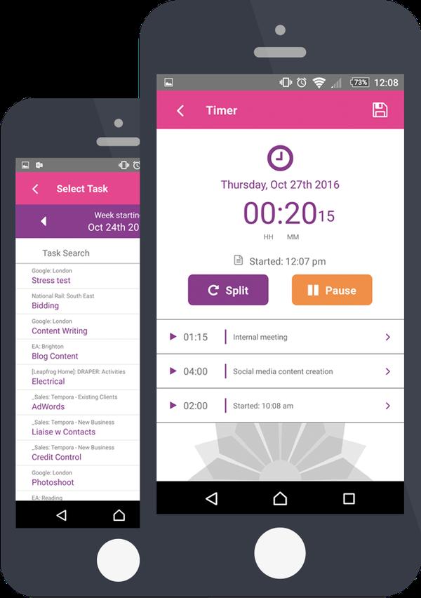 Tempora mobile app